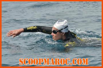 إنجاز: سبّاحة مغربية تعبر مضيق جبل طارق سباحة في 4 ساعات